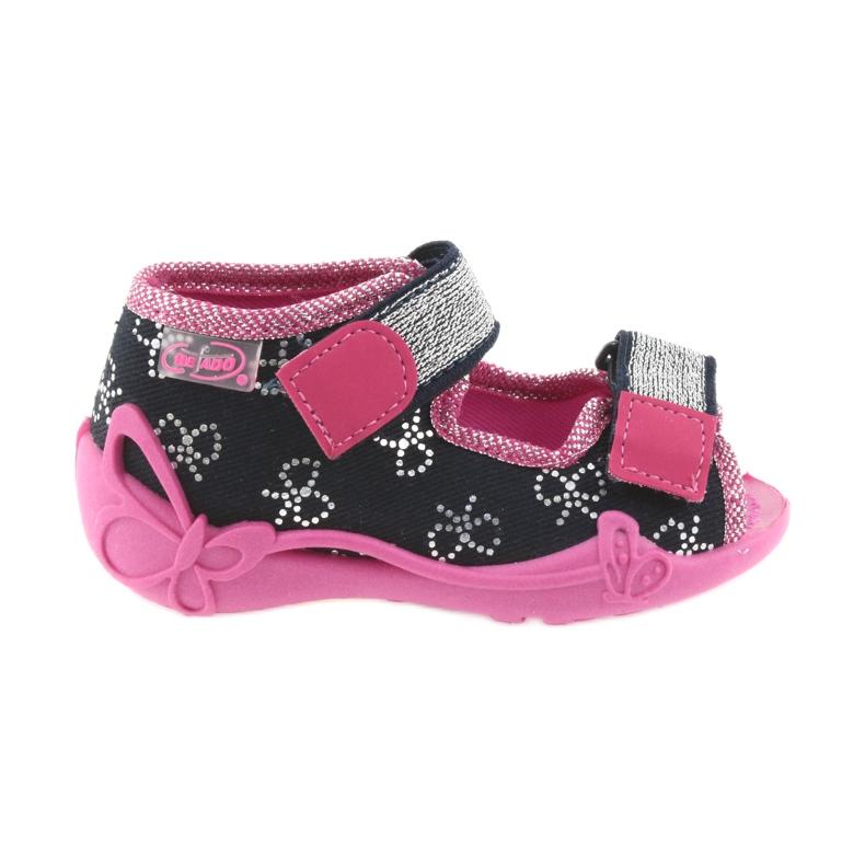 Befado obuwie dziecięce 242P089 różowe granatowe