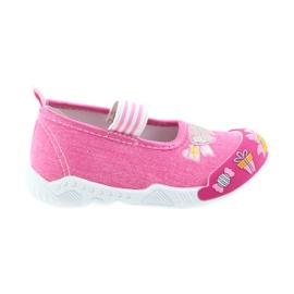 American Club American tenisówki buty dziecięce na gumkę wkładka skórzana różowe