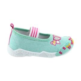 American Club American tenisówki buty dziecięce na gumkę wkładka skórzana zielone