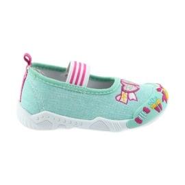 American Club zielone American tenisówki buty dziecięce na gumkę wkładka skórzana