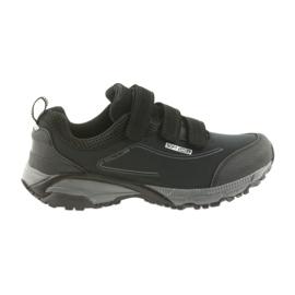 American Club czarne ADI buty damskie sportowe na rzepy American wodoodporne softhell WT08/19