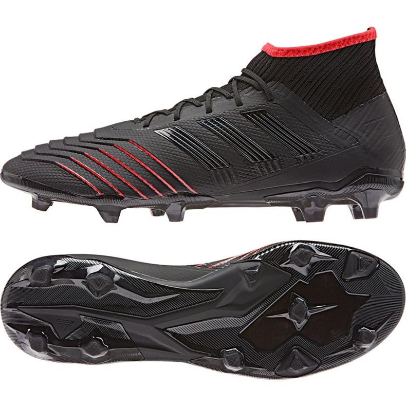 Buty piłkarskie adidas Predator 19.2 Fg M D97939 czarne czarne