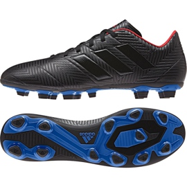 Buty piłkarskie adidas Nemeziz 18.4 FxG M D97991 czarne czarny