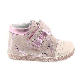 Różowe Trzewiki na rzepy buty dziecięce Ren But 1535 róż flamingi