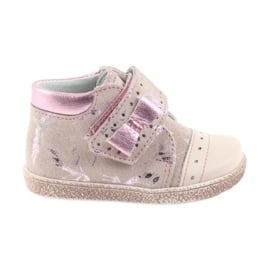 Trzewiki na rzepy buty dziecięce Ren But 1535 róż flamingi różowe
