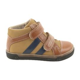Trzewiki buty dziecięce na rzepy Ren But 3225 rudy/granat