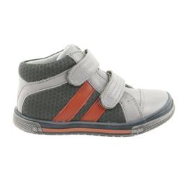 Trzewiki buty dziecięce na rzepy Ren But 3225 popiel/pomarańcz