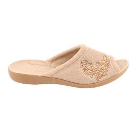 Befado obuwie damskie pu 256D013 brązowe