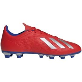 Buty piłkarskie adidas X 18.4 Fg M BB9376 czerwone wielokolorowe