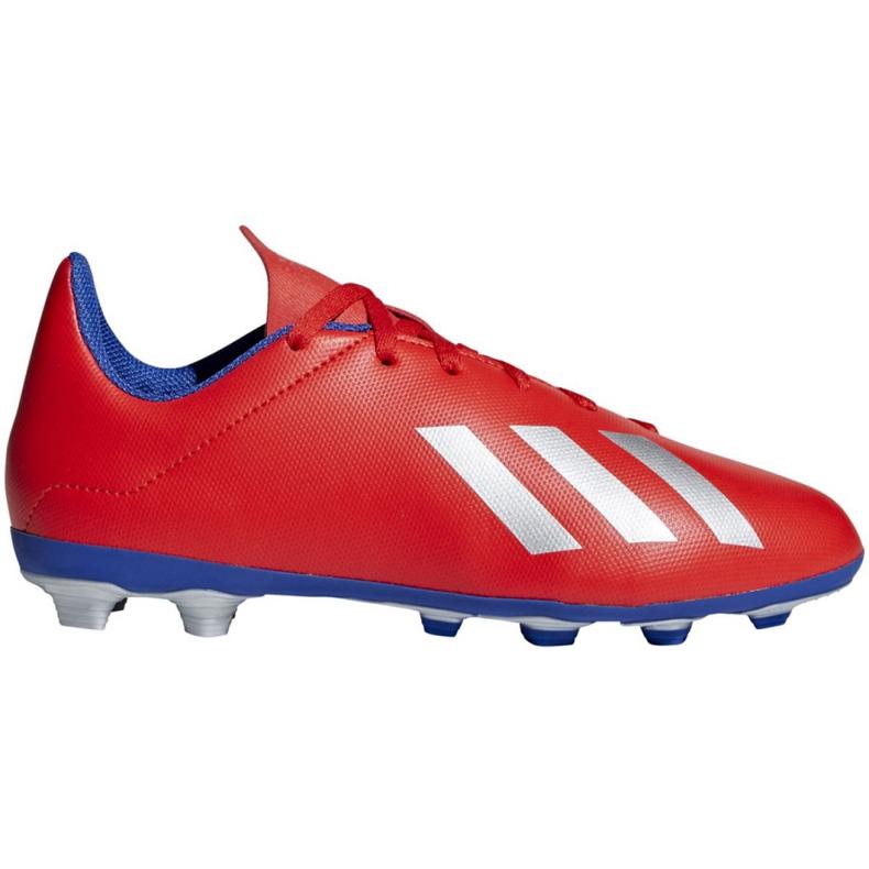Buty piłkarskie adidas X 18.4 FxG Jr BB9379 czerwone wielokolorowe
