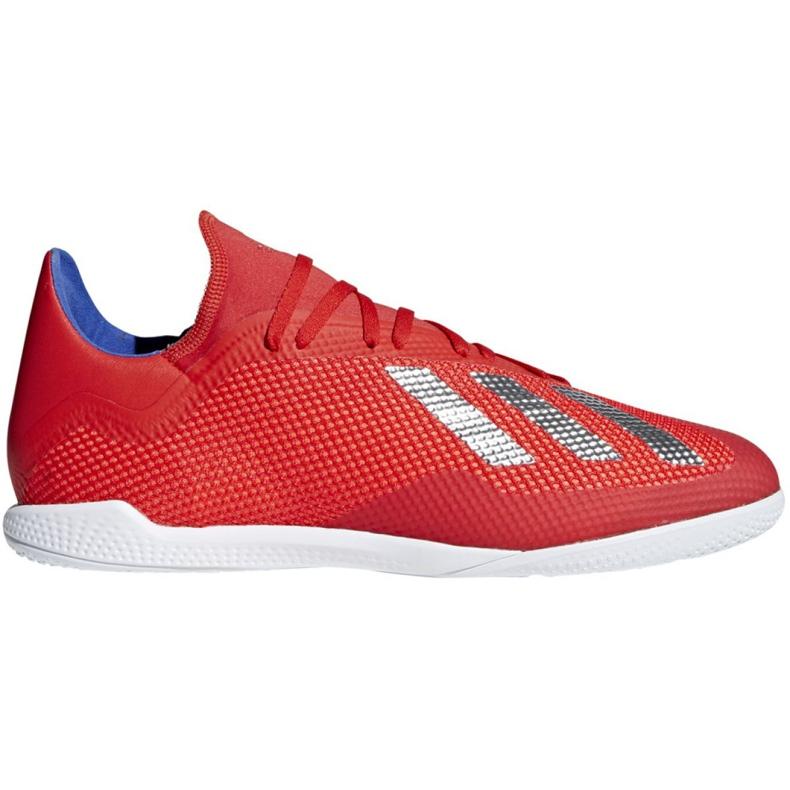 Buty halowe adidas X 18.3 In M BB9392 czerwone biały, czerwony