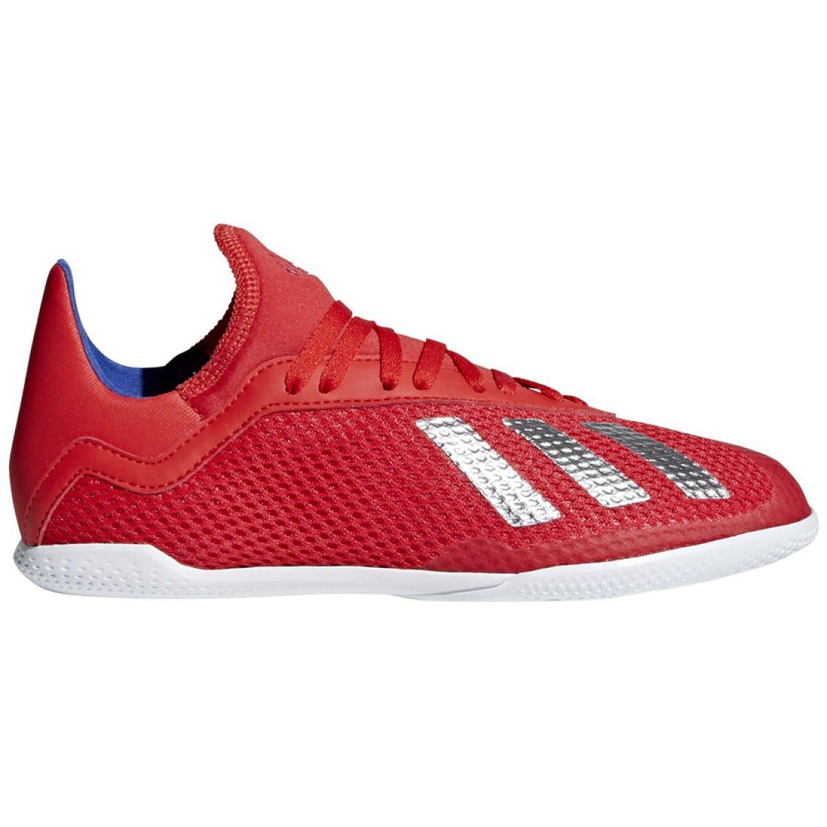 Buty halowe adidas X 18.3 In Jr BB9396 czerwony czerwone