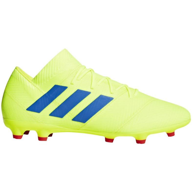 Buty piłkarskie adidas Nemeziz 18.2 Fg M BB9431 żółte żółte