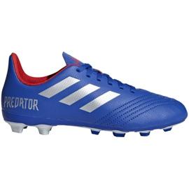 Buty piłkarskie adidas Predator 19.4 FxG Jr CM8540 niebieskie wielokolorowe