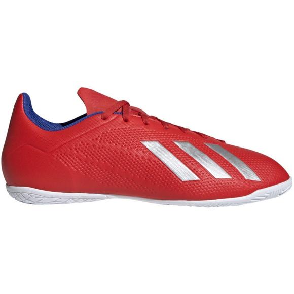 Buty halowe adidas X 18.4 In M BB9406 czerwone czerwony
