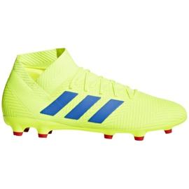 Buty piłkarskie adidas Nemeziz 18.3 Fg M BB9438 żółte wielokolorowe