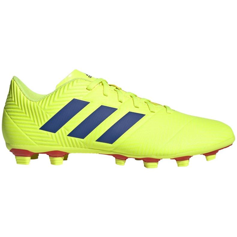 Buty piłkarskie adidas Nemeziz 18.4 FxG M BB9440 żółte żółte
