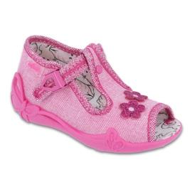 Różowe Befado obuwie dziecięce 213P109