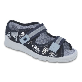 Granatowe Befado obuwie dziecięce  969Y138