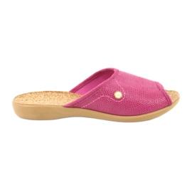 Różowe Befado obuwie damskie pu 254D092