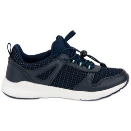 Ax Boxing niebieskie Buty Sportowe Ze Ściągaczem