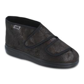 Czarne Befado obuwie damskie  pu 986D007