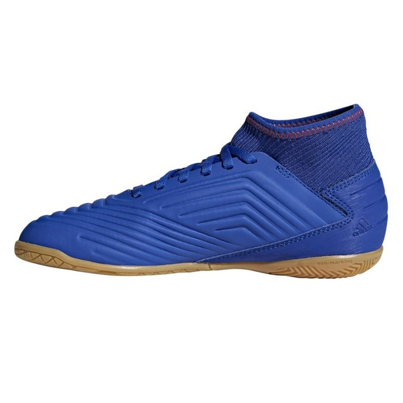 Buty halowe adidas Predator 19.3 In Jr CM8543 niebieskie czarny, niebieski