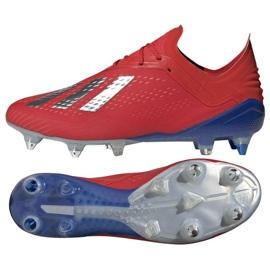 Buty piłkarskie adidas X 18.1 Sg M BB9359 czerwone czerwone