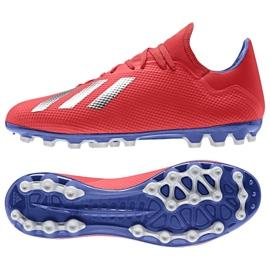 Buty piłkarskie adidas X 18.3 Ag M BC0299 czerwone wielokolorowe