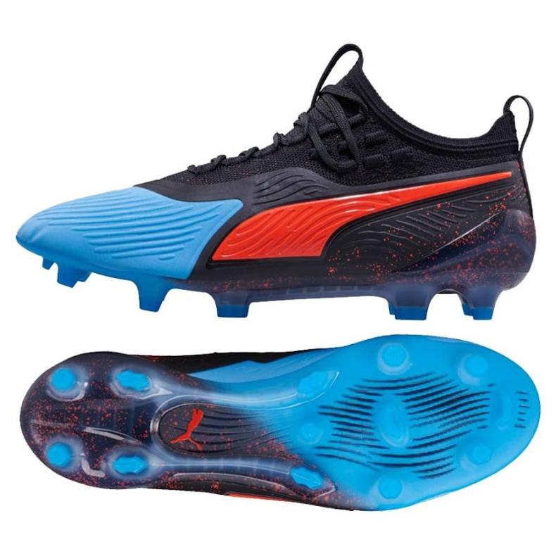 Buty piłkarskie Puma One 19.1 Syn Fg Ag M 105481 01 czarne czarne