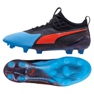 Buty piłkarskie Puma One 19.1 Syn Fg Ag M 105481 01 czarny, niebieski czarne