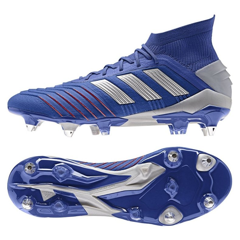 Buty piłkarskie adidas Predator 19.1 Sg M BC0312 niebieskie niebieskie
