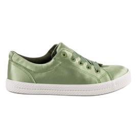 Kylie zielone Satynowe Trampki