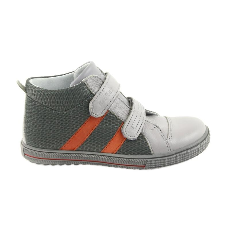 Trzewiki buty dziecięce na rzepy Ren But 4275 popiel/pomarańcz pomarańczowe szare
