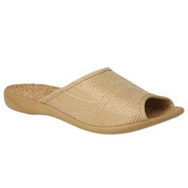Befado obuwie damskie pu 254D094 brązowe