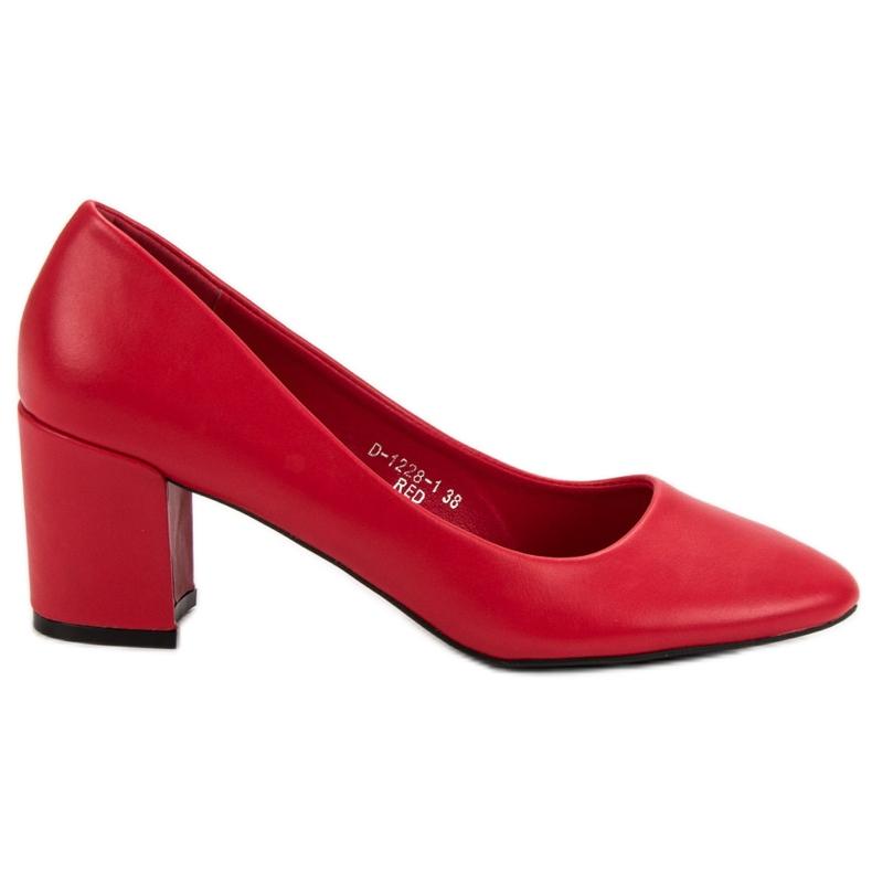 Ideal Shoes Klasyczne Czerwone Czółenka