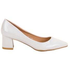 Diamantique Eleganckie Białe Czółenka