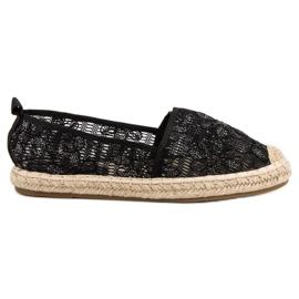 Sweet Shoes czarne Koronkowe Espadryle