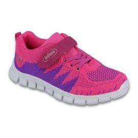 Befado obuwie dziecięce do 23 cm 516Y023 fioletowe różowe