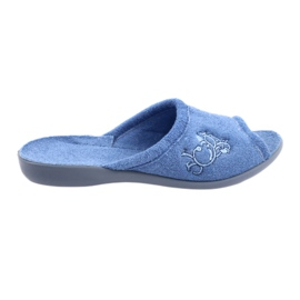 Niebieskie Befado obuwie damskie pu 256D003
