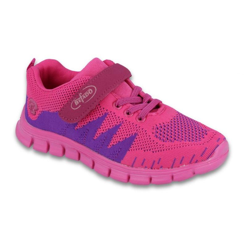 Befado obuwie dziecięce do 23 cm 516Y022 fioletowe różowe