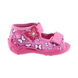 Różowe Befado obuwie dziecięce 242P091