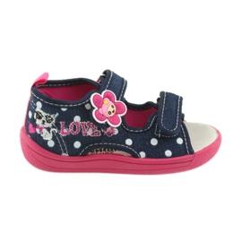 American Club Buty dziecięce kapcie sandałki American wkładka skórzana