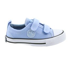 Trampki na rzepy buty dziecięce American Club LH50 blue