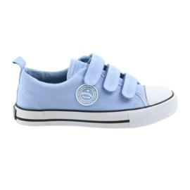 Trampki buty dziecięce na rzepy American Club blue LH49
