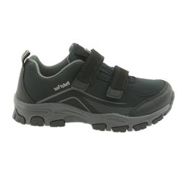 ADi Sportowe buty dziecięce softshell American Club czarne szare