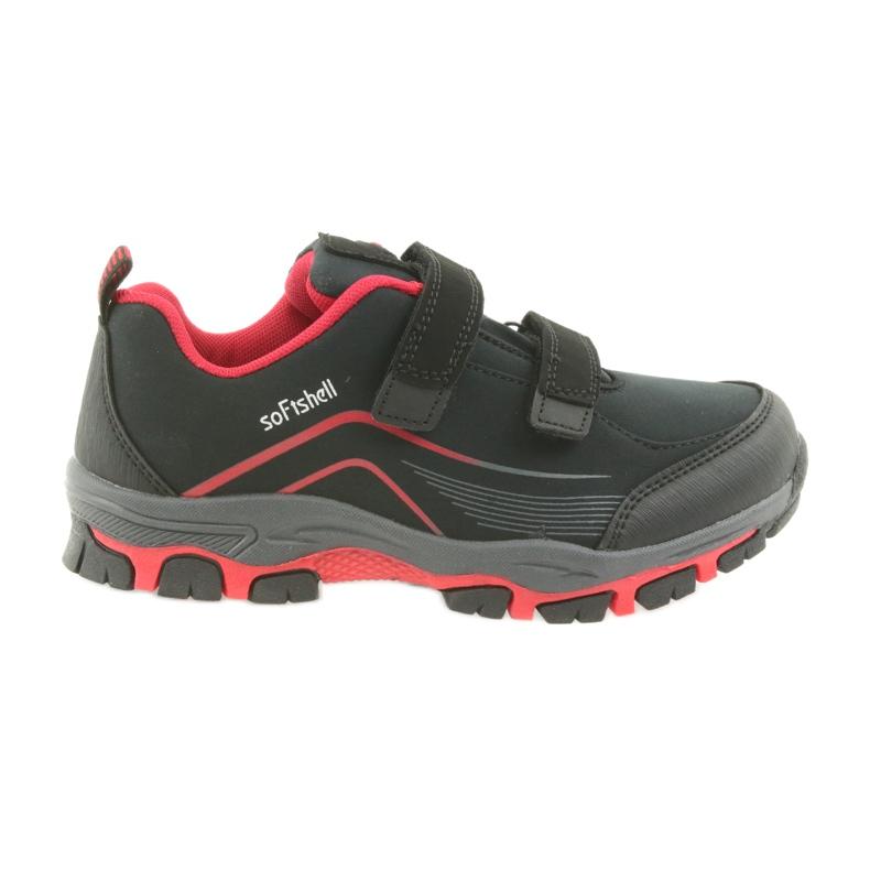 ADI Sportowe buty dziecięce softshell American Club WT09/19 czarne czerwone
