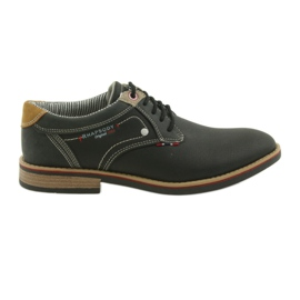 American Club czarne Półbuty buty męskie wiązane Rhapsody RH 08/19