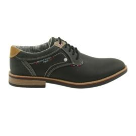 American Club Półbuty buty męskie wiązane Rhapsody RH 08/19 czarne