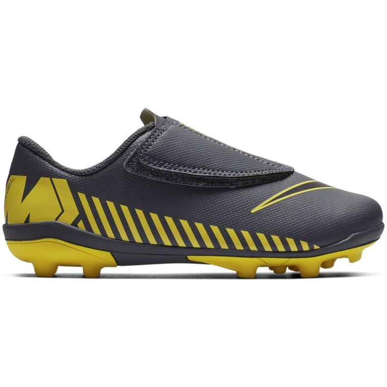 Buty piłkarskie Nike Mercurial Vapor 12 Club PS(V) Mg Jr AH7351-070 szare wielokolorowe